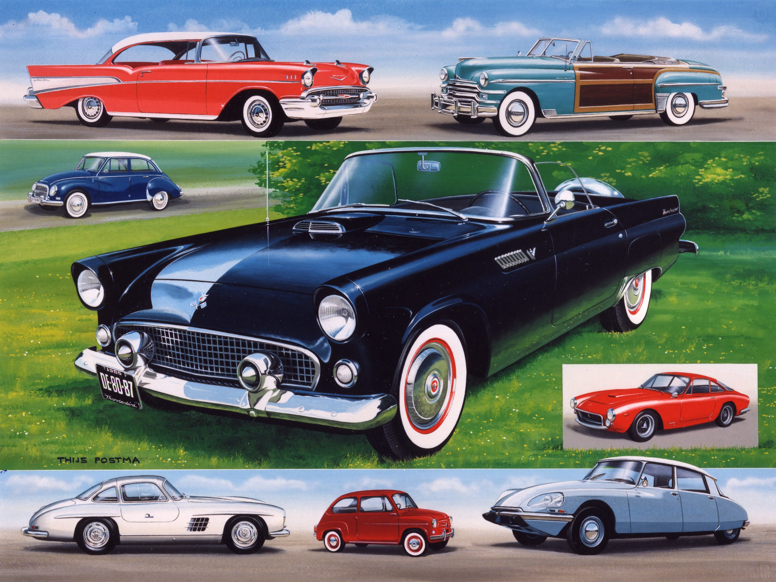 Auto Cars of the fifties 25 cm