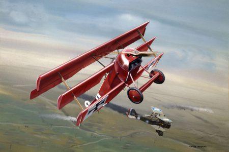 Fokker Dr I + RAF SE-5 25 cm