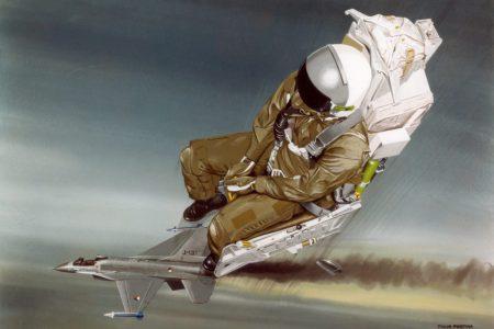 General Dynamics F-16A KLu schietstoel. 25 cmJPG