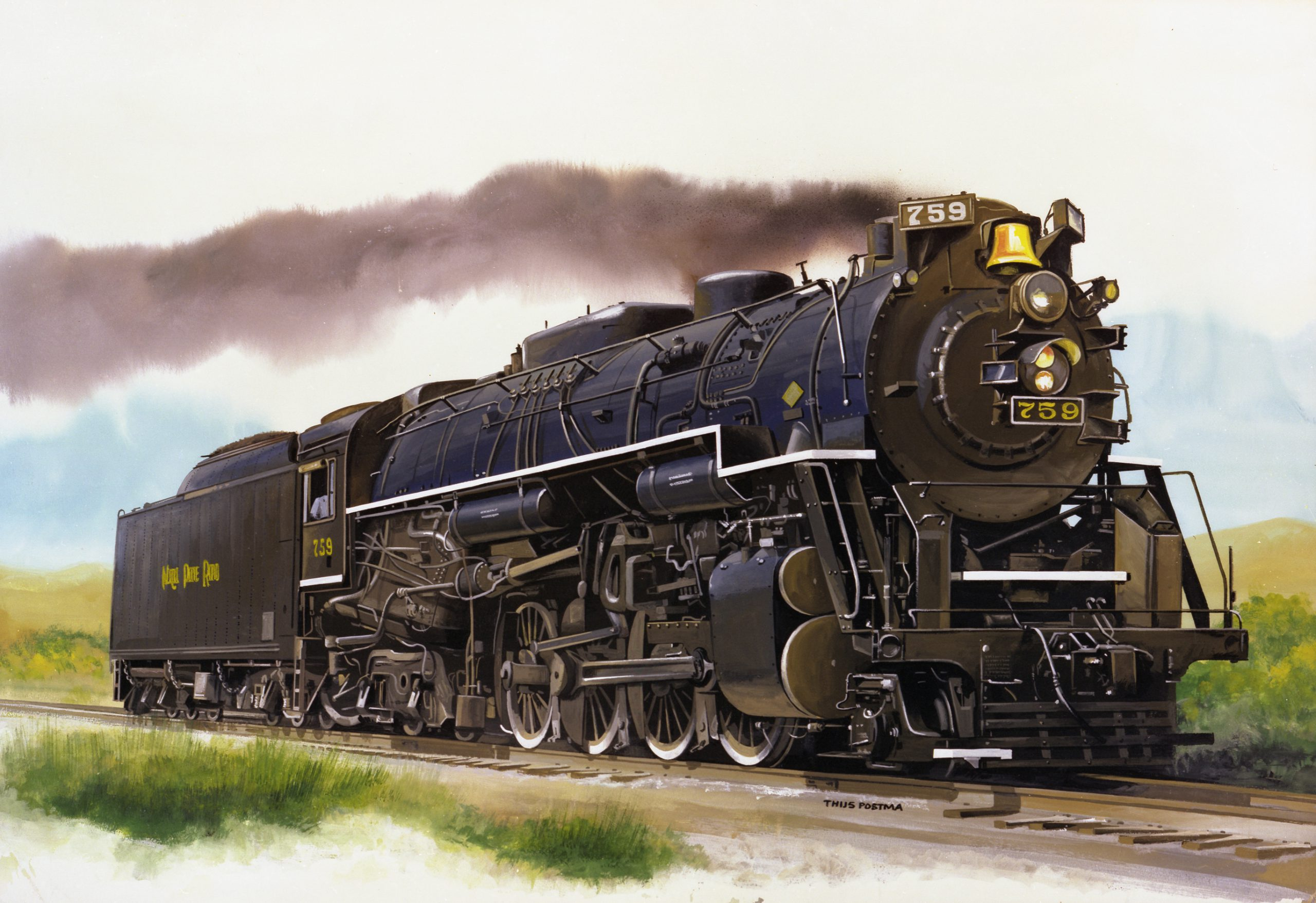 Locomotief 25 cm