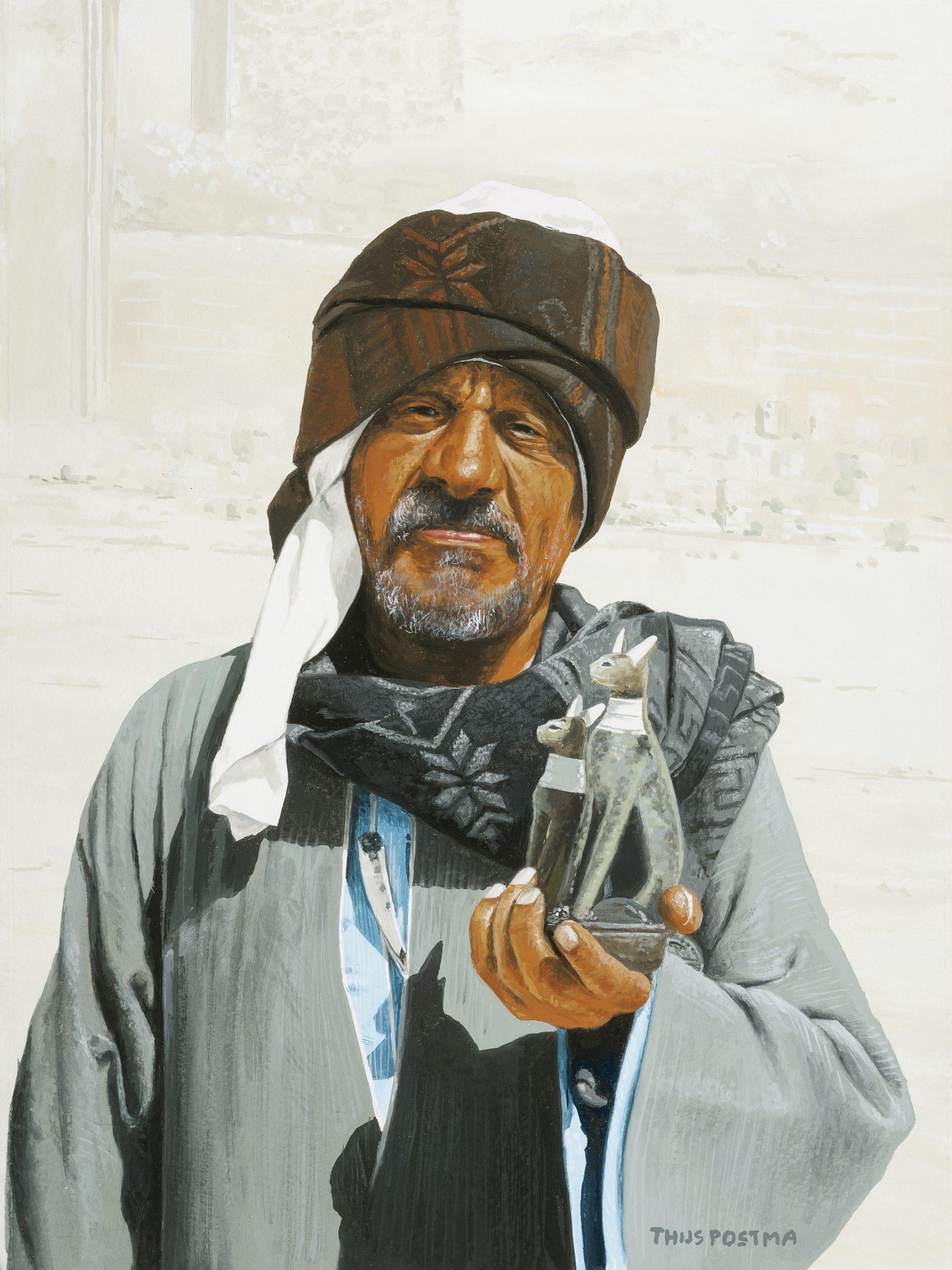 Portret Arabische verkoper 25 cm